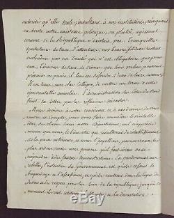 Joseph Fouche Important Letter Signed Berthier Chouannerie 3rd 1799