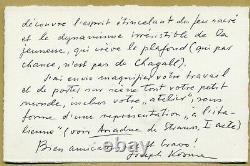 Joseph Kosma (1905-1969) French Composer Rare Autograph Letter Signed