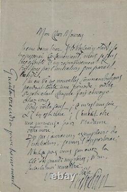Josephin Peladan Autograph Letter Signed. Sentimentalinitiation And Guaita
