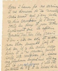 Josephine Baker Exceptional Autograph Letter Signed 4 Pages To Stepmothers