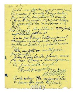 Josephine Peladan / Autograph Letter Signed / Barbey D'aurevilly / Poe / Work