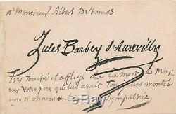 Jules Barbey D'aurevilly Signed Autograph Card