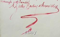Jules Barbey D'aurevilly Writer Autograph Letter Signed