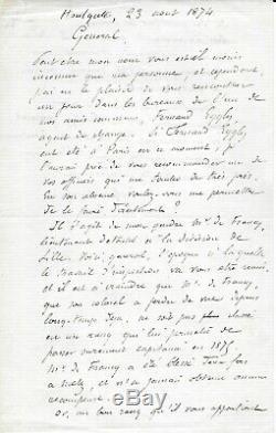 Jules Verne Signed Autograph Letter