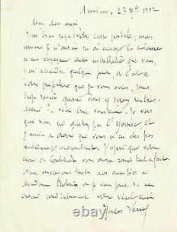 Jules Verne Signed Autograph Letter To His Friend Robert Godefroy. November 1902