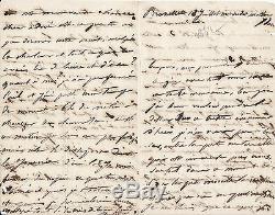 Juliette Drouet A Victor Hugo Signed Autograph Letter
