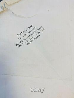 Karl Lagerfeld / Autograph Letter Signed / Collection / 18th Century / Fashion