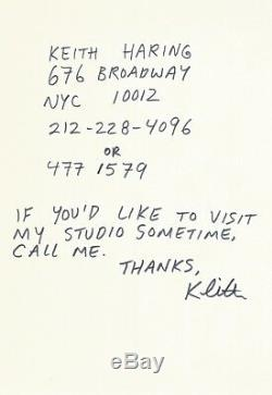 Keith Haring / Signed Autograph Letter