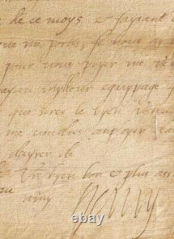 King Henry IV Autograph Letter Signed Catherine De Medicis