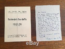 La Tour Du Pin (patrice). 8 Autograph Letters Signed, Undated