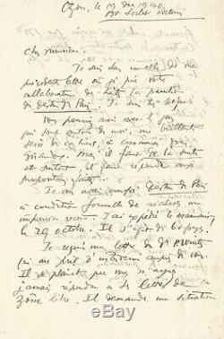 Le Corbusier / Autograph Letter Signed About The Fate Of Paris. 1940