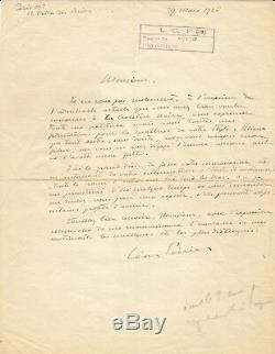 Léon Poirier / Signed Autograph Letter / Citroën Expedition / La Croisière Noire