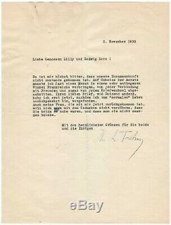 Leon Trotsky / Signed Letter (1933) / In Exile In France / Socialism / Marx