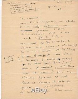 Léonor Fini Signed Autograph Letter Theater Decor Castaing Roger Lauran