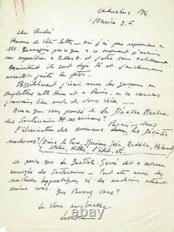 Leonora Carrington Autographed Letter Signed To André Breton. Eros
