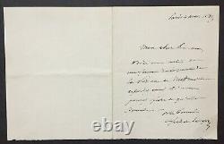 Lesseps Ferdinand De Letter Autograph Signed Princess Metternich Suez