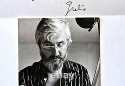 Letter And Photo Signed By Cartoonist Julio Ribera