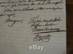 Letter Autograph Signed Barère De Vieuzac 1789 Manuscript Revolution