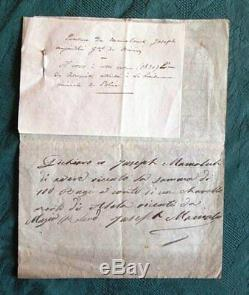 Letter Autograph Signed Joseph Vantini Yusuf Algeria