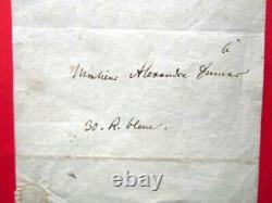 Letter Autograph Signee De Meyerbeer A Dumas 1832