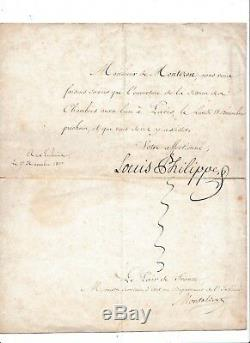 Letter From Convocation To The Addressed Room A Sign M De Montozon Louis Philippe