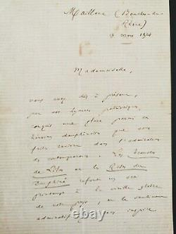 Letter From Frédéric Mistral Handwritten Autograph / 1874 Signed