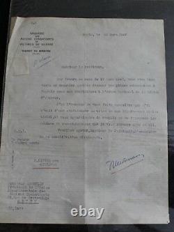 Letter Signe Autographe Francois Mitterrand Hand Signed 1947 President Sending