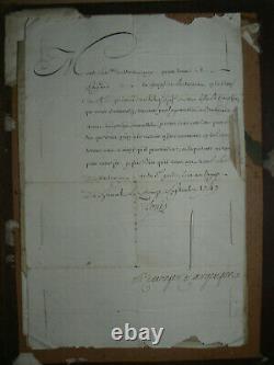 Letter Signee Of Roi Louis XV September 15, 1747