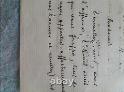 Letter Written Autograph And Signed By Stéphane Mallarmé