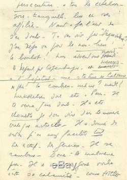 Lf. Celine Autograph Letter Signed Jg. Daragnès. 5 Pages. Celine Desperate