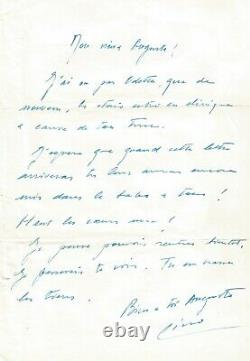 Lino Ventura Autograph Letter Signed To Auguste Le Breton. 1964