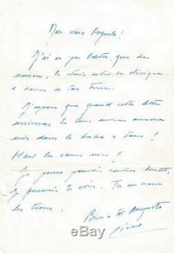Lino Ventura. Signed Autograph Letter To Auguste Le Breton