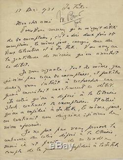 Literature Jacques Chardonne Autograph Letter Signed Copies Editor