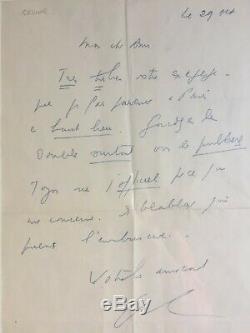 Louis Ferdinand Celine Autograph Letter Signed Charles Deshayes 1949