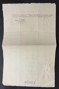 Louis Joseph De Bourbon, Prince De Condé Document / Signed Letter Army 1801