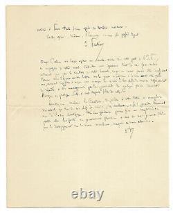 Louis Pasteur / Autograph Letter Signed / La Rage / Dogs / Child / Bite