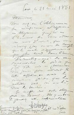Louis Pasteur Autograph Letter Signed Red Mulled Vaccine Of The Pig