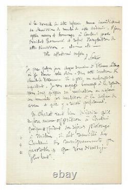 Louis Pasteur / Unpublished Signed Autograph Letter / Rage / Trepanation / Dogs
