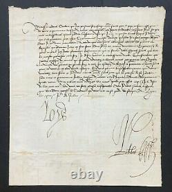 Louis XII King Of France Signed Letter Request To The Pope Adviser 1501