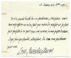 Louis XVIII / Autograph Letter Signed / Death Of Marie Antoinette / Revolution