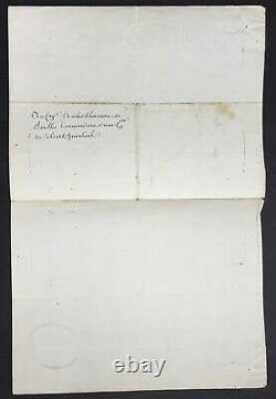 Louis XVI King France Letter Signed Soldiers Invalides Letter Signed 1786