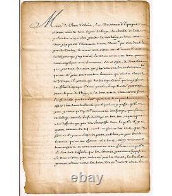 Louis Xiv. King Of France. Signed Letter (secretary) (g 5499)