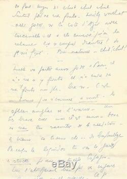 Louis-ferdinand Celine / Autograph Letter Signed / 5 Pages / 1949