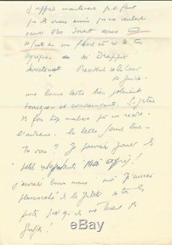 Louis-ferdinand Celine / Autograph Letter Signed / His Trial In 1950