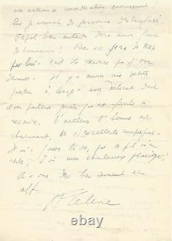 Louis-ferdinand Celine Autograph Letter Signed To J. Daragnès. On Mikkelsen