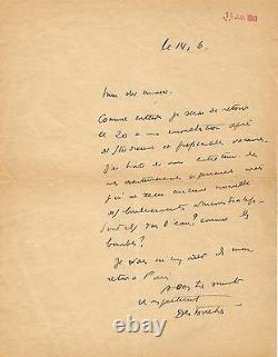Louis-ferdinand Celine / Autograph Letter Signed To The Mayor Of Bezons