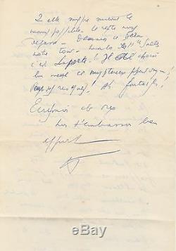 Louis-ferdinand Celine Beautiful Signed Autograph Letter On Human Nature