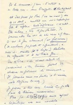 Louis-ferdinand Celine / Signed Autograph Letter / The Idiots Like Hitler