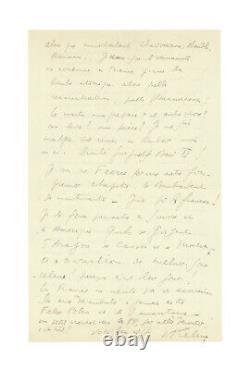 Louis-ferdinand Celine / Signed Autograph Letter / Unedited / Desperation / Féérie