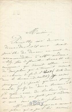 Louise Michel Autograph Letter Signed By Eugène Pelletan